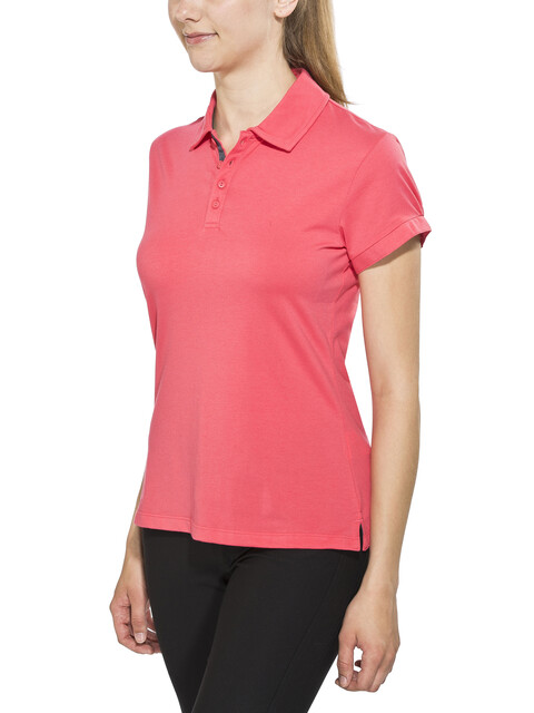Columbia Splendid Summer Polo Women Bright Geranium